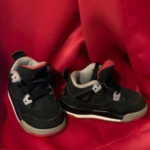 Toddler Black & Red Jordan's
